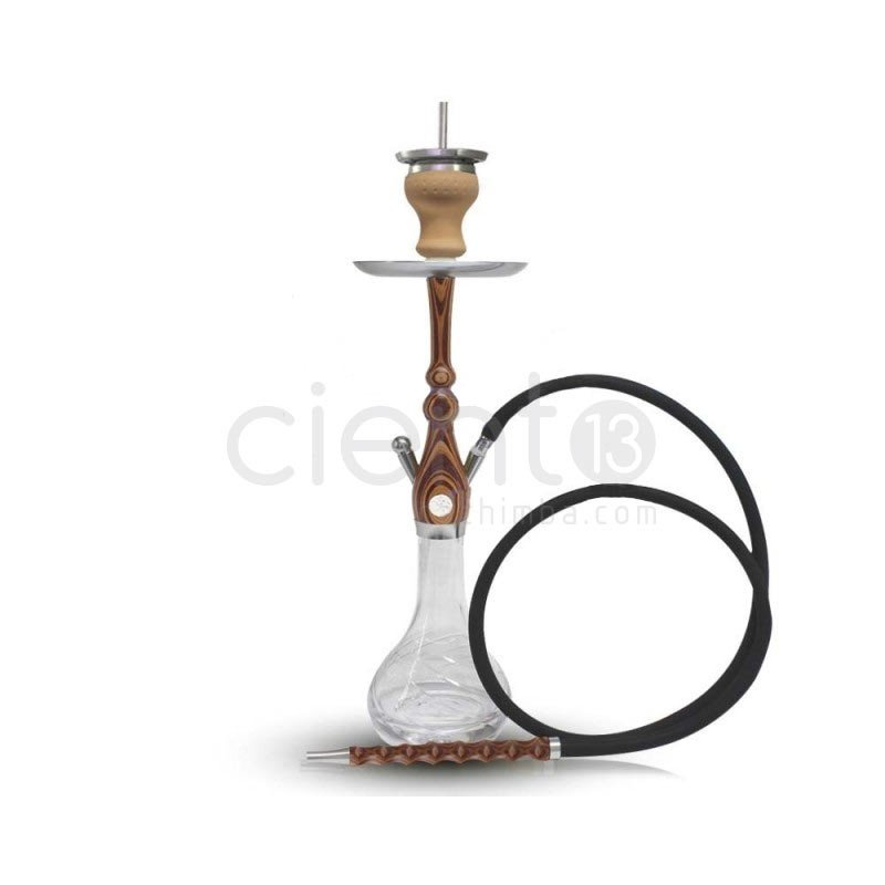 HOOKAH BOSS MINI WOOD II ZEBRANO ORANGE