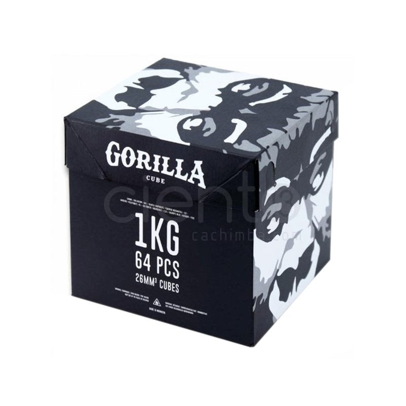 CARBÓN GORILLA 1KG CAJA DE 64 PIEZAS